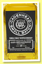 Glen Spey-Glenlivet 19 yo 1995/2015 (58.8%, Cadenhead, Small Batch, bourbon hogshead, 480 bottles)