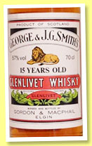 Glenlivet 15 yo (57%, Gordon & MacPhail, licensed bottling, +/-1990)