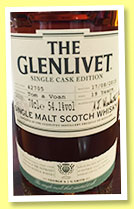 Glenlivet 19 yo 'Tom a Voan' (54.1%, OB, single cask edition, cask #42705, 2015)
