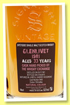 Glenlivet 33 yo 1981/2015 (52.2%, Signatory Vintage, for The Whisky Exchange, refill sherry, cask #9468, 154 bottles)