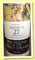 Ireland 27 yo 1988/2015 (49.5%, The Nectar of the Daily Drams)