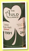Irish Whiskey 24 yo 1991/2015 (51.5%, The Auld Alliance, 232 bottles)
