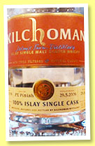 Kilchoman 2009/2014 (55.2%, OB for De Tongerse Whiskyvrienden and Massen, Luxembourg, 100% Islay, PX finish, 218 bottles)