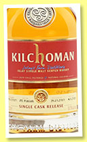 Kilchoman 2010/2015 (58.3%, OB, for The Whisky Exchange, PX finish, cask #679/2010, 262 bottles)