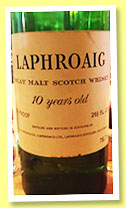 Laphroaig 10 yo (70 proof, OB, UK, 75.7cl, +/-1960?)
