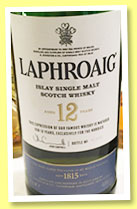 Laphroaig 12 yo (48%, OB, for the Nordics, sherry butts and 1st fill hogsheads, 1278 bottles, 2014)