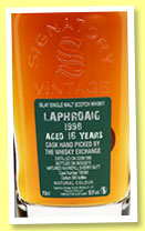 Laphroaig 16 yo 1998/2015 (59.9%, Signatory Vintage for The Whisky Exchange, refill sherry, cask # 700389, 585 bottles)