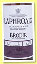 Laphroaig 'Brodir batch #002' (48%, OB, Port Wood Finish, +/-2015)