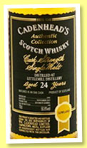 Littlemill 24 yo 1991/2015 (50.8%, Cadenhead, Authentic Collection, 144 bottles)