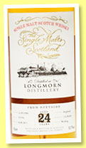 Longmorn 24 yo 1990/2015 (53.7%, The Single Malts of Scotland, cask #191954, 216 bottles)