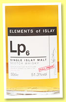 Lp6 (51.3%, Specialty Drinks, Elements of Islay, 2015, 50cl)