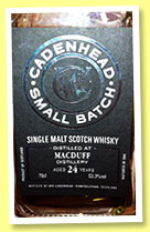 Macduff 24 yo 1989/2013 (53.3%, Cadenhead, Small Batch, sherry, 516 bottles)