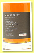 Miltonduff 6 yo 2008/2015 (65.1%, Chapter 7, sherry butt, cask #900109, 663 bottles)