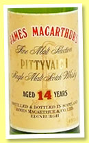 Pittyvaich 14 yo (54.5%, James MacArthur, Fine Malt Selection, 75cl, +/-1990)