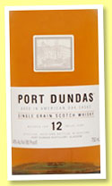Port Dundas 12 yo (40%, OB, single grain, 2015)