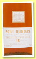 Port Dundas 18 yo (43%, OB, single grain, 2015)