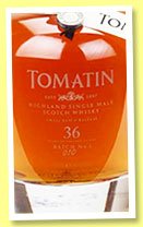 Tomatin 36 yo 1977/2015 'Rare Casks - Batch 1' (46%, OB, casks #48 & 30142, 798 bottles)