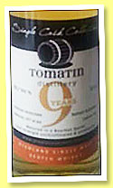 Tomatin 9 yo 2006/2015 (55.7%, Single Cask Collection, bourbon barrel, cask #726, 253 bottles)