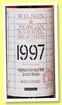 Westport 1997/2014 (48%, Wilson & Morgan, blended malt, sherry butts, casks #3358-59)