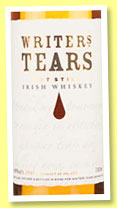 Writers Tears (40%, Irish, Irish Pot Still blend, +/-2015)