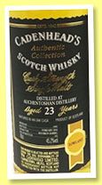 Auchentoshan 23 yo 1992/2016 (45.2%, Cadenhead, Authentic Collection, 192 bottles)