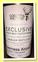 Balblair 1996/2013 (46%, Gordon & MacPhail, Exclusive to Inverness Airport, cask #412)