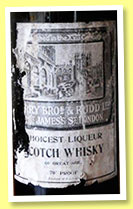 Choicest Liqueur Scotch Whisky of Great Age (70° proof, Berry Bros & Rudd, blend, +/-1950)