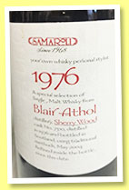 Blair Athol 1976/2004 (45%, Samaroli, sherry wood, cask #7310)