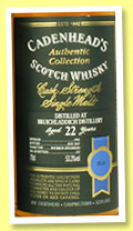 Bruichladdich 22 yo 1992/2015 (53.3%, Cadenhead, Authentic Collection, bourbon hogshead, 222 bottles)