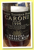 Caroni 1996/2014 (46%, Bristol Spirits, Port finish, Trinidad)
