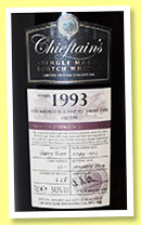 Chieftain's 'Speyside' 1993/2014 (54%, Chieftain's, sherry butt, cask #3611, 628 bottles)