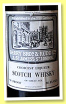 Choicest Liqueur Scotch Whisky of Great Age (70° proof, Berry Bros & Rudd, blend, 26 2/3 fl ozs, +/-1970)