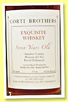 Corti Brothers 7 yo 'Exquisite Whiskey' (45.2%, OB, USA, 2014)
