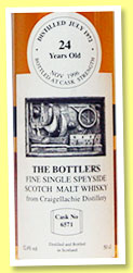 Craigellachie 24 yo 1972/1996 (52.4%, The Bottlers, cask #6571)