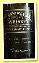 Hannisville Rye Whiskey 1863/1913 (US, The Auld Alliance, Singapore, 24 bottles, 2015)