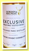 Highland Park 1990/2015 (55.1%, Gordon & MacPhail, Exclusive for Ramseyer's Whisky Connection, refill hogshead, cask #5101, 244 bottles)