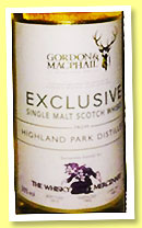 Highland Park 20 yo 1995/2015 (50%, Gordon & MacPhail, Exclusive for The Whisky Mercenary, refill hogshead, cask #1485, 325 bottles)