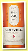 Lagavulin 8 yo (48%, OB, 200th Anniversary, 2016)