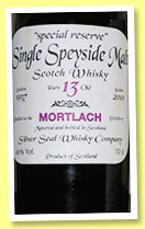 Mortlach 13 yo 1997/2010 (46%, Silver Seal, 270 bottles)