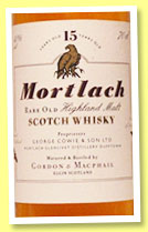 Mortlach 15 yo (40%, Gordon & MacPhail, licensed bottling, +/-1995)