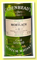 Mortlach 8 yo 1987/1995 (61.6%, Cadenhead, Authentic Collection, USA)