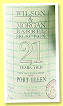Port Ellen 21 yo 1976/1998 (57.3%, Wilson & Morgan, Barrel Selection, cask #4750, 234 bottles)