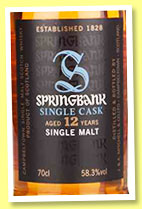 Springbank 12 yo 2003/2015 (58.3%, OB, Port Pipe Matured, 696 bottles)