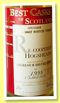 Aberlour 13 yo 1995/2008 (43%, Jean Boyer, Best Casks of Scotland, recoopered hogsheads, 1200 bottles)