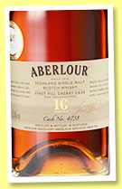 Aberlour 16 yo (53.5%, OB, for The Whisky Exchange, first fill sherry, cask #4738, 2016)