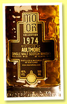 Aultmore 36 yo 1974/2010 (46%, Mo Or Collection, bourbon hogshead, cask #3740, 264 bottles)