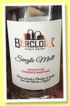 Bercloux (43.6%, OB, spirit drink, France, Charentes, batch #ACF1, 1144 bottles, 2015)