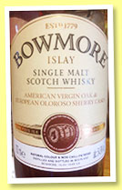 Bowmore 'Feis Ile 2016' (54.9%, OB, American Virgin Oak & European Oak Sherry Casks, 1500 bottles)