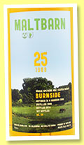 Burnside 25 yo 1989/2014 (50.9%, Maltbarn, bourbon, 167 bottles)