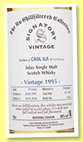 Caol Ila 19 yo 1995/2014 (46%, Signatory Vintage, Un-Chillfiltered Collection, hogshead, casks #457-458, 692 bottles)